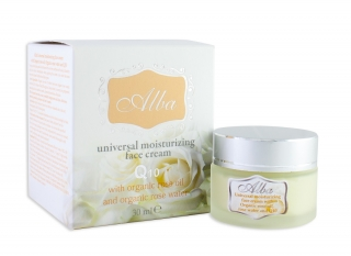 Universal moisturizing face cream ALBA with Organic Rose essential oil and Q10 - 30 ml