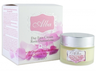 Day face cream ALBA with Organic Rose absolutes and Q10 - 30 ml