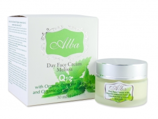 Day face cream ALBA with Organic Melissa essential oil and Q10 - 30 ml
